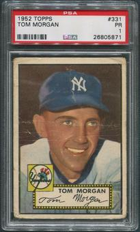 1952 Topps Baseball #331 Tom Morgan Rookie PSA 1 (PR)