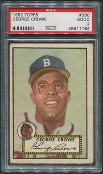 1952 Topps Baseball #360 George Crowe Rookie PSA 2 (GOOD)