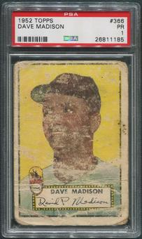 1952 Topps Baseball #366 Dave Madison Rookie PSA 1 (PR)