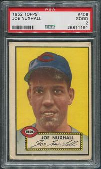 1952 Topps Baseball #406 Joe Nuxhall Rookie PSA 2 (GOOD)