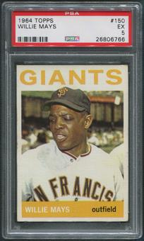 1964 Topps Baseball #150 Willie Mays PSA 5 (EX)