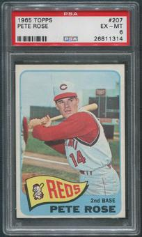 1965 Topps Baseball #207 Pete Rose PSA 6 (EX-MT)