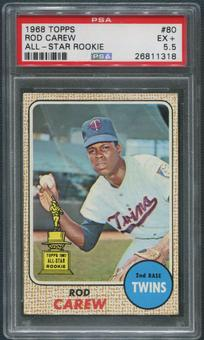 1968 Topps Baseball #80 Rod Carew PSA 5.5 (EX+)