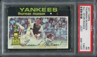 1971 Topps Baseball #5 Thurman Munson PSA 1 (PR) (MC)