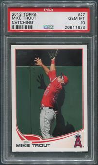 2013 Topps Baseball #27 Mike Trout Catching PSA 10 (GEM MT)