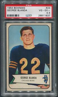 1954 Bowman Football #23 George Blanda Rookie PSA 4.5 (VG-EX+)