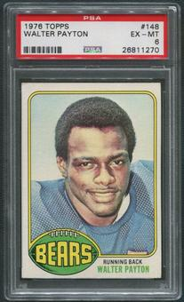 1976 Topps Football #148 Walter Payton Rookie PSA 6 (EX-MT)