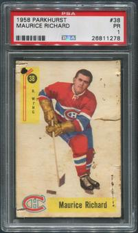 1958/59 Parkhurst Hockey #38 Maurice Richard PSA 1 (PR)