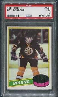 1980/81 Topps Hockey #140 Ray Bourque Rookie PSA 7 (NM)