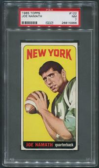 1965 Topps Football #122 Joe Namath SP Rookie PSA 7 (NM)