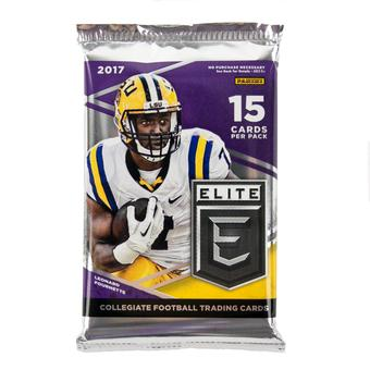 2017 Panini Elite Draft Picks Collegiate Football Hobby Pack