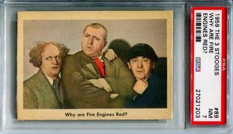 1959 The 3 Stooges Why Are Fire Engines Red? #89 Gray Back PSA 7 *27021203*