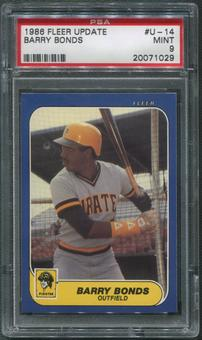 1986 Fleer Update Baseball #U-14 Barry Bonds Rookie PSA 9 (MINT)
