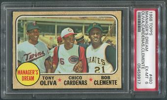 1968 Topps Baseball #480 Manager's Dream Roberto Clemente PSA 6 (EX-MT)