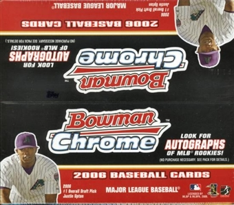 2006 Bowman Chrome Baseball 24 Pack Box