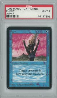 Magic the Gathering Alpha Single Flight PSA 9