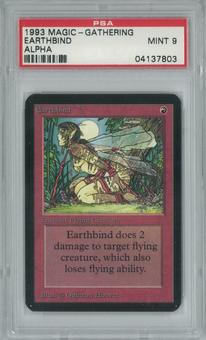 Magic the Gathering Alpha Single Earthbind PSA 9