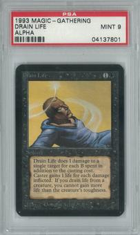 Magic the Gathering Alpha Single Drain Life PSA 9