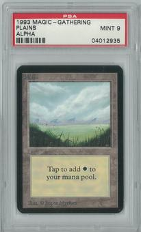 Magic the Gathering Alpha Single Plains V1 PSA 9