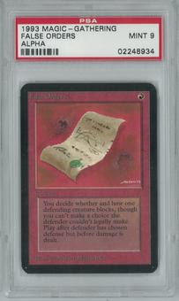 Magic the Gathering Alpha Single False Orders PSA 9