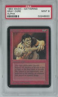 Magic the Gathering Alpha Single Gray Ogre PSA 9