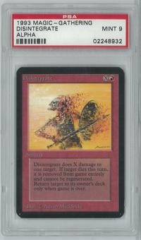 Magic the Gathering Alpha Single Disintegrate PSA 9