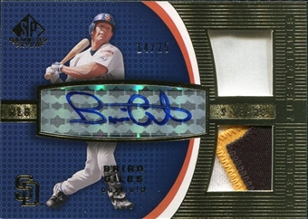 2004 SP Game Used Patch Significant Numbers Autograph Dual #BG Brian Giles 14/25