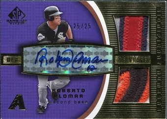 2004 SP Game Used Patch Significant Numbers Autograph Dual #RA Roberto Alomar 25/25