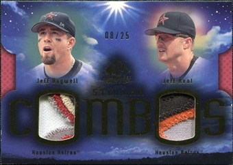 2004 SP Game Used Patch Stellar Combos Dual #BK Jeff Bagwell Jeff Kent 8/25