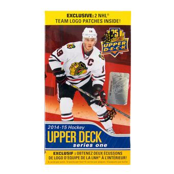 2014/15 Upper Deck Series 1 Hockey 12-Pack Box (w/2 NHL Team Logo Patches!)