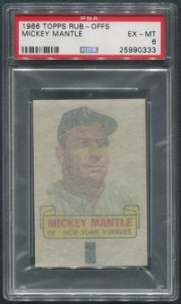 1966 Topps Rub-Offs Baseball #57 Mickey Mantle PSA 6 (EX-MT)