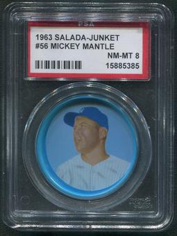1963 Salada Junket Coins Baseball #56 Mickey Mantle PSA 8 (NM-MT)