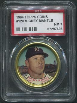 1964 Topps Coins Baseball #120 Mickey Mantle PSA 7 (NM)