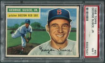 1956 Topps Baseball #93 George Susce Jr. Gray Back PSA 7 (NM)