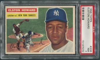 1956 Topps Baseball #208 Elston Howard PSA 7 (NM)