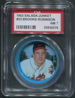 1963 Salada Junket Coins Baseball #53 Brooks Robinson PSA 7 (NM)
