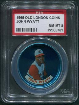 1965 Old London Coins Baseball #39 John Wyatt PSA 8 (NM-MT)