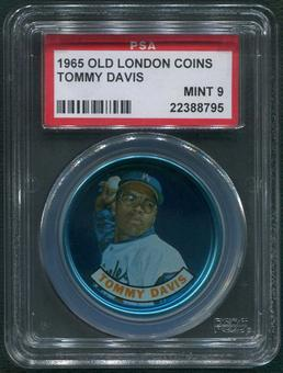 1965 Old London Coins Baseball #7 Tommy Davis PSA 9 (MINT)