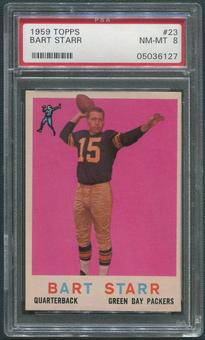 1959 Topps Football #23 Bart Starr PSA 8 (NM-MT)