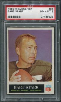 1965 Philadelphia Football #81 Bart Starr PSA 8 (NM-MT)