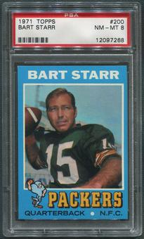1971 Topps Football #200 Bart Starr PSA 8 (NM-MT)