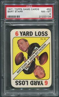 1971 Topps Game Cards Football #50 Bart Starr PSA 8 (NM-MT)
