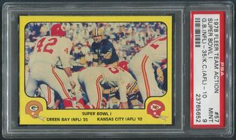 1978 Fleer Team Action Football #57 Super Bowl I PSA 9 (MINT)