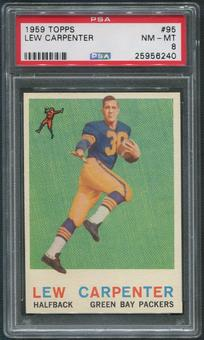 1959 Topps Football #95 Lew Carpenter Rookie PSA 8 (NM-MT)