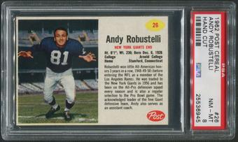 1962 Post Cereal Football #26 Andy Robustelli Hand Cut PSA 8 (NM-MT)