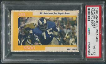 1968 American Oil Mr. & Mrs. Football Deacon Jones Single $500 PSA 4 (VG-EX)