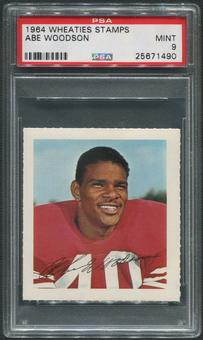 1964 Wheaties Stamps Football #74 Abe Woodson PSA 9 (MINT)