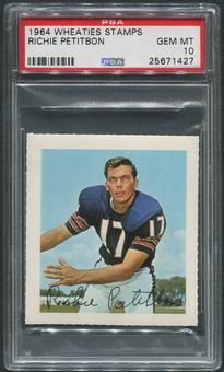 1964 Wheaties Stamps Football #51 Richie Petitbon PSA 10 (GEM MT)