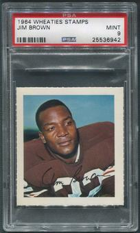 1964 Wheaties Stamps Football #11 Jim Brown PSA 9 (MINT)