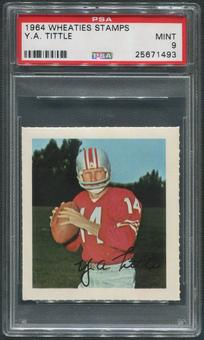 1964 Wheaties Stamps Football #68 Y.A. Tittle PSA 9 (MINT)